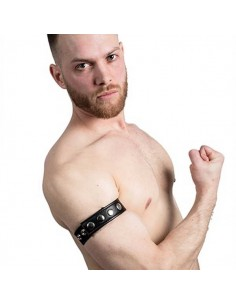 Leather Armband Snap Studs