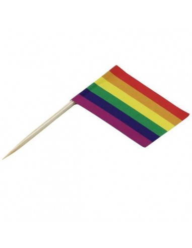 Rainbow Toothpick Flags 100 pcs
