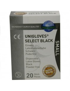 Black Surgical Gloves 20 Pcs