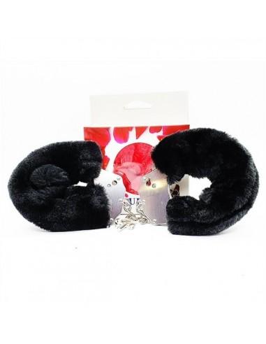 Furry Handcuffs Black