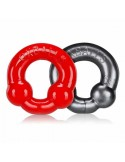 Ultraballs 2 Cockrings Set Steel Red